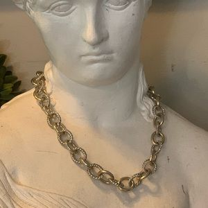 Beautiful Cable Link Silver Gold Heavy Chain